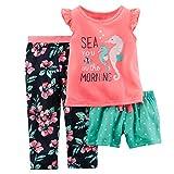 Carters Little Girls 3-Piece Jersey PJs Dancer Dreams -  Pink -