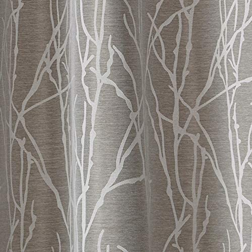 Exclusive Home Curtains Finesse Branch Print Grommet Top Curtain Panel Pair