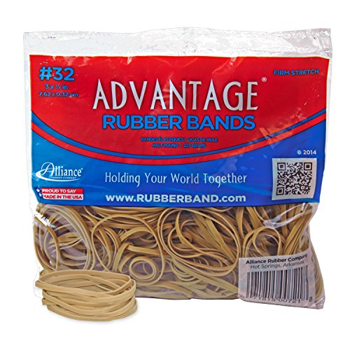 Alliance Rubber 00721 Advantage Rubber Bands Size #32, 1/2 lb Bag Contains Approx. 350 Bands (3