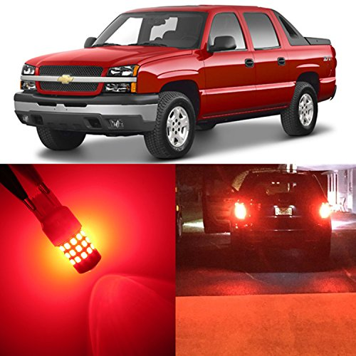 Alla Lighting 2pcs Rear Turn Signal Blinker Brake Stop Tail Light Brilliant Red LED Bulbs Lamps for 2002 ~ 2013 Chevy Chevrolet Avalanche/ Avalanche 1500/ Avalanche 2500 3157 3047 3057 3157K 3047K