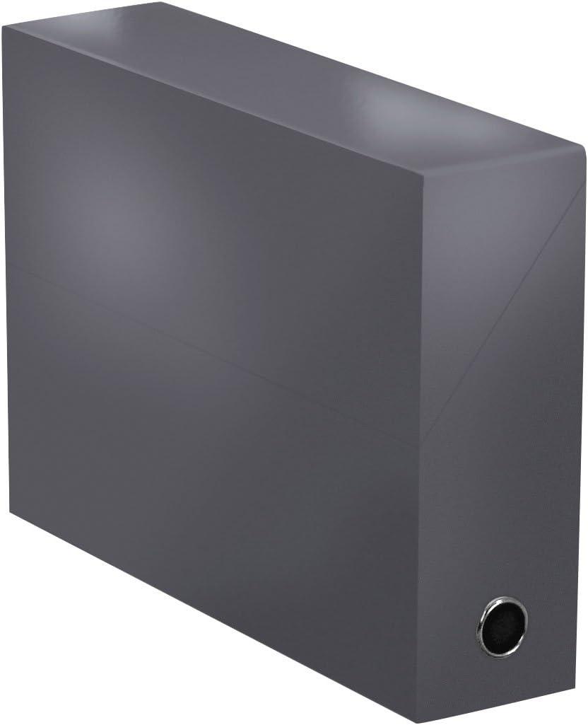 Elba 400080242 color life – Caja de transferencia ancho 9 cm 34 x 25,5 cm Plastificado Gris: Amazon.es: Oficina y papelería
