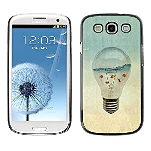 PC/Aluminum Funda Carcasa protectora para Samsung Galaxy S3 I9300 Aquarium Gold Fish Ocean Sea Art Light Bulb / JUSTGO PHONE PROTECTOR