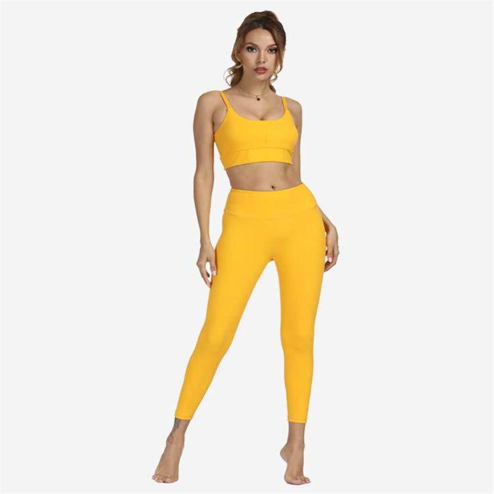 2 Women Gym Yoga Clothes Set, Padded Sports Yoga Bra, Gym Yoga Pants Leggings Tights,5,XL