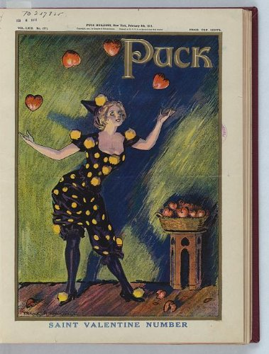 HistoricalFindings Photo: Saint Valentine Number,Puck,1911,young woman juggling -