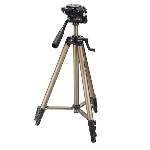 La cámara del trípode del recorrido Ligera trípode con la ...