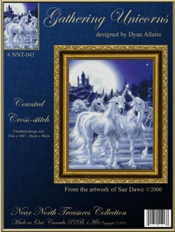 Gathering Unicorns Cross-stitch (NNT041) Dyan Allaire Cross Stitch