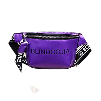 LMDZSW Bolso de Cintura Mujer Cartas Diseñador Fanny Pack Cinturón de Moda Bolso de Pecho Mujer Paquetes de Vagabundos móviles Mensajero Bolsas de Pierna Monedero Bolsa de Cintura púrpura: Amazon.es: Equipaje