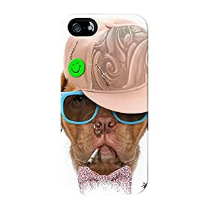 Dog with Cap 03 Full Wrap High Quality 3D Printed Case for iPhone 5 / 5s by Gangtoyz + FREE Crystal Clear Screen Protector