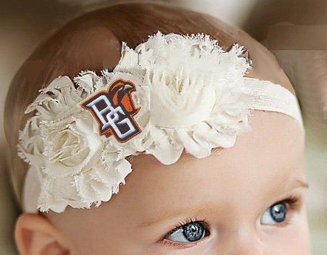 Bowlingグリーンベビー/幼児用Shabby Flowerヘアリボンヘアバンド 6 - 12 months/ 14\  B016D177DC