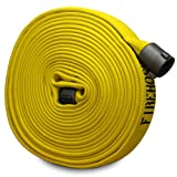 Yellow 1'' x 50' Forestry Fire Hose (Aluminum NH Couplings)