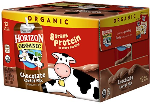 Horizon Organic UHT Chocolate Milk Boxes, 1% Single Serve, 8 Oz., 12 Count (Mini Milk Chocolate Bottle)