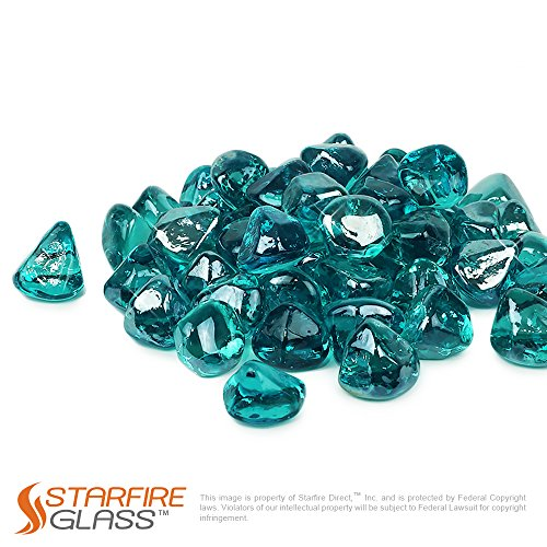 - Starfire Glass 10-Pound Fire Glass 1-Inch Caribbean Blue Reflective Fire-Diamonds