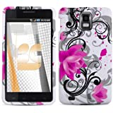 Pink Lotus Design Protector Case for Samsung Infuse 4G