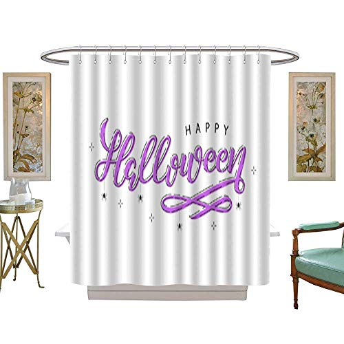 (Decoration Shower CurtainVector realistic isolated typography for Halloween and spiders with thin line art design for decoration and covering on the white background Concept of Happy Halloween .)