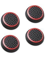 Fosmon Analoge stick Caps Joystick Silicone opzetstukken beschermkappen Controller Thumbstick handgrepen Thumb Grips voor PS4 | PS3 | Xbox ONE/ONE S / 360 | Nintendo Wii U (zwart en rood)
