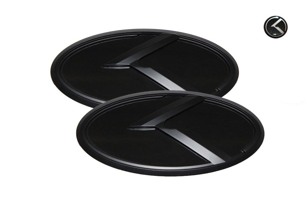 Mini Sticker Fit: KIA 2015+ All New Sorento 3D K Logo Emblem Black /& Black Edition Set 3pc Front Rear