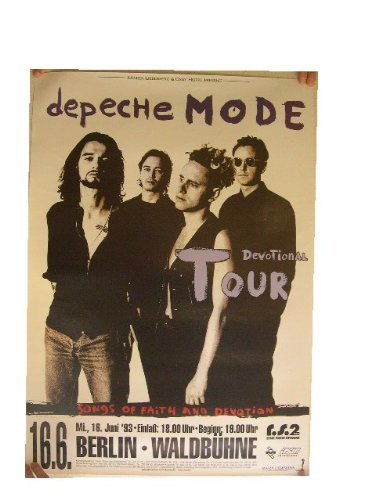 Depeche Mode Concert Poster Berlin Devotional 1993