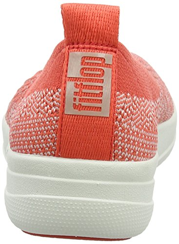 Punta Chiusa neon Slip Donna hot Blush Ballerina Fitflop on Multicolour Uberknit Coral UCxyXB