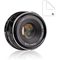 Meike MK-4/3-35-1.7 35mm f 1.7 Large Aperture Manual Focus Lens APS-C For 4/3 Systems Mirrorless Cameras E-M5/GF6/GF5/GF3/GF2/GF1/GX1X/GM1/G6/GX7/GM5 with Voking Lens Cleaning Cloth