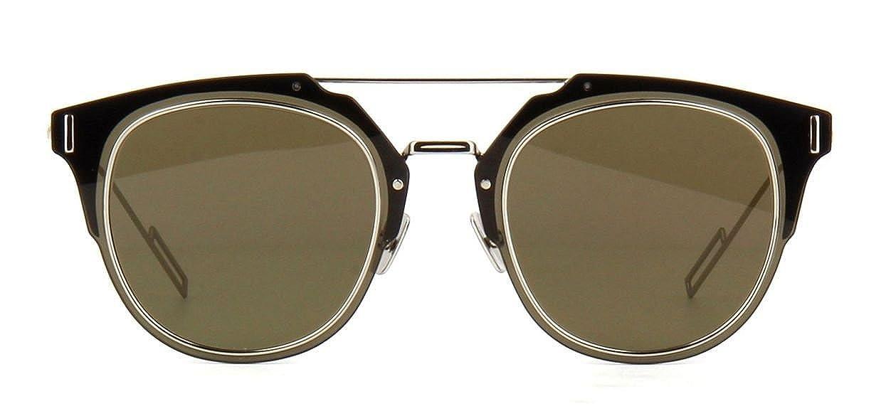 1b09b710d2593 Amazon.com  New Christian Dior COMPOSIT 1.0 010 2M black palladium grey brown  Sunglasses  Clothing