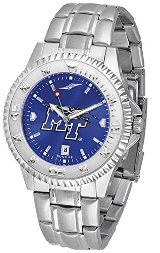 Middle Tennessee State Blue Raiders Competitor Steel AnoChrome Men's Watch (Raiders Executive Watch)