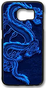 Blue Dragon Samsung Galaxy S6 Case, Customized Hard Shell PC Black Samsung Galaxy S6 Case, Galaxy S6 Case(Not Fit for Galaxy S6 Edge)