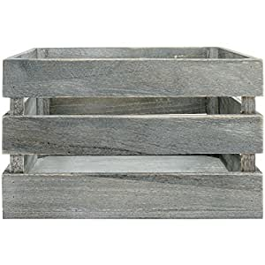 """Jillibean Soup Mix The Media Wooden Crate-10.5""""X9.75""""X6.75"""" Weathered, No Handles"""