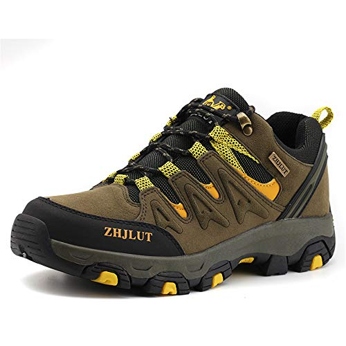 ZOEASHLEY Trekking Wanderschuhe Herren Damen Wasserdicht Outdoor Schuhe Walkingschuhe Gr.36-47 Grün
