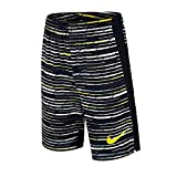 Nike Boys' Dri-Fit Legacy Basketball Shorts, Black/Grey/White/Volt (X-Large)