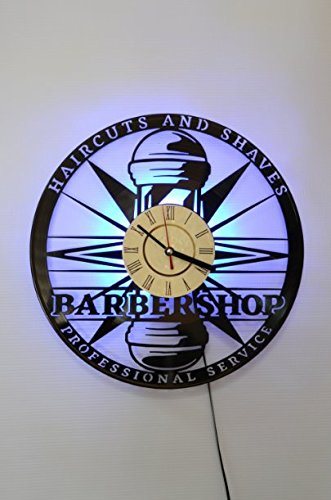 Barbershop Ornament Design Wall Light, Night Light Function, Car Original Home Interior Decor, Wall Lamp, Perfect Gift (Blue)
