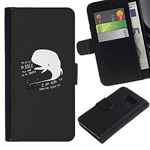 NEECELL GIFT forCITY // Billetera de cuero Caso Cubierta de protección Carcasa / Leather Wallet Case for Sony Xperia Z3 Compact // DIVERTIDO DICK BALLENA SANCIONAR