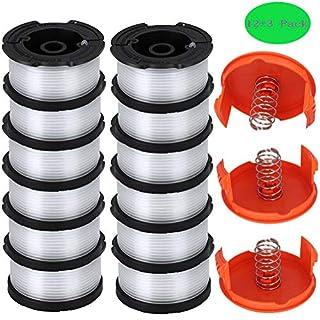 AF-100 Spool for GH900 GH600 String Trimmer, AF-100-3ZP 30 Foot 0.065 String Trimmer Line - AF100 Replacement Spool - Replace AF1003ZP, AF-100-BKP, AF-100-2 (12 Spools, 3 Caps and Springs)