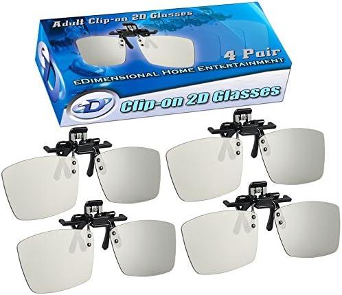 2D 안경 클립 온 4팩 - 3D 영화를 2D 로 전환합니다 - 모든 패시브 3D TV(LG  비조 ...) 및 RealD 3D 영화관에서 사용할 수 있습니다 / 2D 안경 클립 온 4팩 - 3D 영화를 2D 로 전환합니다 - 모든 패시브 3D TV(LG  비조 ...) 및 RealD 3D 영화관에...