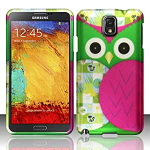 For Samsung Galaxy Note 3 N9000 - Rubberized Design Cover - Owl