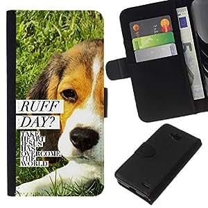 All Phone Most Case / Oferta Especial Cáscara Funda de cuero Monedero Cubierta de proteccion Caso / Wallet Case for LG OPTIMUS L90 // BIBLE Ruff Day Jesus Dog
