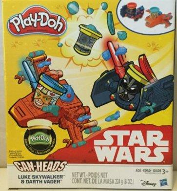 Play-Doh Star Wars Luke Skywalker vs. Darth Vader & Play-Doh Glow In the Dark Can-Heads