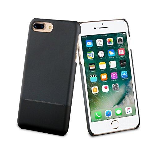 Muvit Coque Skin Case Edition Double Pu Noir Pour Apple Iphone 7+/8+