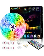 LED Strip Lights 20ft, RGB LED Light Strip with 44 Keys IR Remote, Color Changing Rope Lights for Bedroom, TV, Indoor Decoration