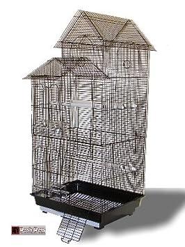 Skyline Magnífico Negro jaula para Budgies Canarias Lovebirds ...