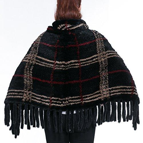 URSFUR - Poncho - para mujer negro