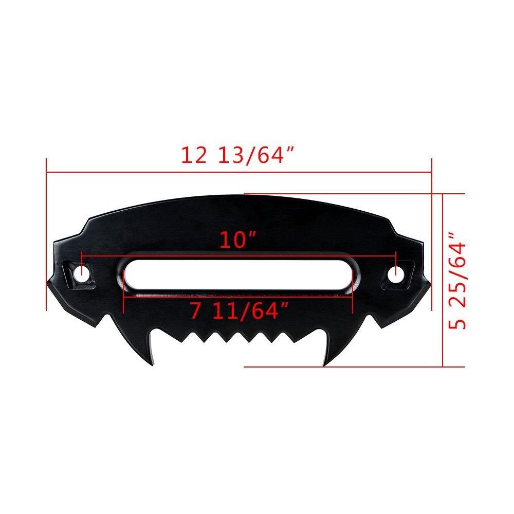 254mm Flip-Up Mounted License Plate Holder Kit AMOPA 10 Black Anodized Hawse Fairlead 8000-15000 LBs
