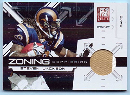Steven Jackson 2010 Donruss Elite Zoning Commission Jerseys Game Worn Jersey Patch Prime #16 - 18/50 - St. Louis Rams, Two Color Jersey