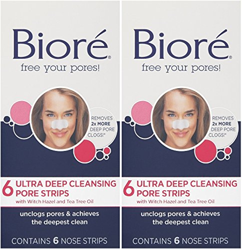 (Biore Ultra Deep Cleansing Pore Strips, 6 Count (Pack of 2))