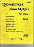 img - for Sonatinas from Myklas for Piano, Vol. 1 book / textbook / text book