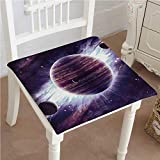 Mikihome Dining Chair Pad Cushion Saturn Mars and Neptune Science Fiction Solar Scene Artprint Fashions Indoor/Outdoor Bistro Chair Cushion 32''x32''x2pcs