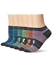 Under Armour Women's Essential Twist 2.0 No Show Socks (6 Pack)