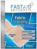Fastaid+ Antibacterial Barrier Fabric Dressing Strip 6.3Cm X 1m