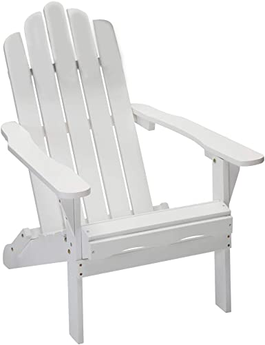 YTPORTS Folding Wood Adirondack Chair Accent Furniture
