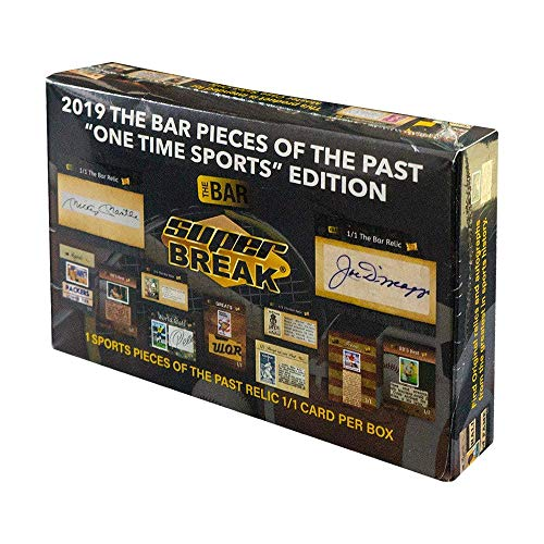 (2019 Super Break The Bar 'One Time Sports Edition' box (ONE Relic card))