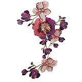 Aplique con forma de flor, tamaño grande, para coser, ideal para decorar prendas de ropa o para hacer manualidades morado